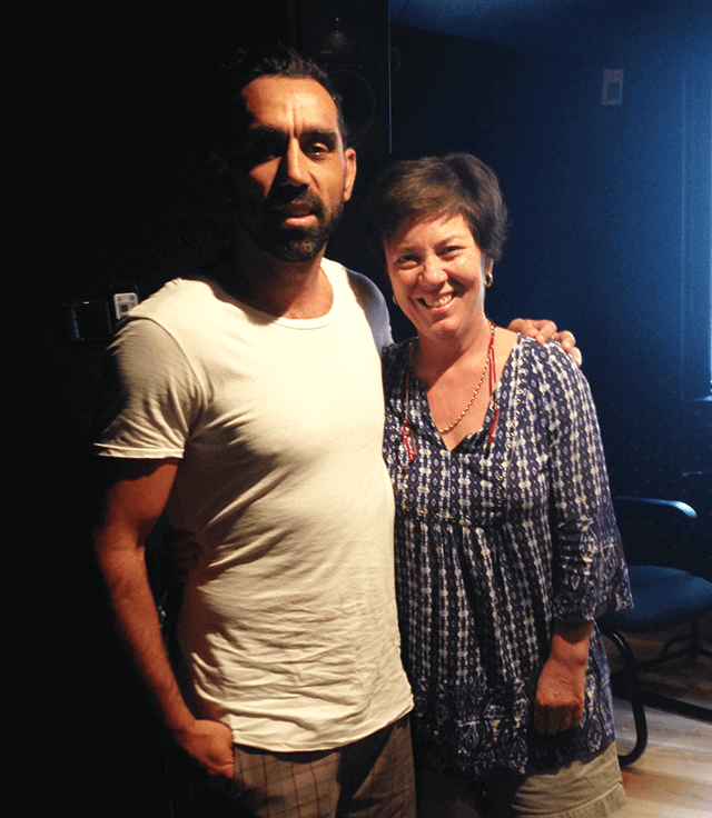 with Adam Goodes