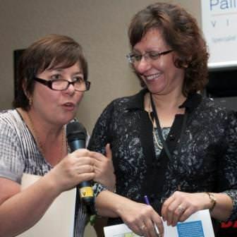 Julie with Zoe Peltekis